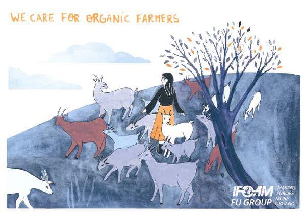 Membership postcard organic farmers