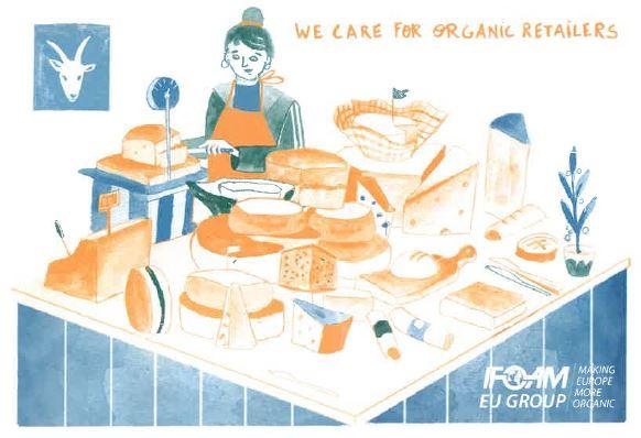 Membership postcard organic retailers