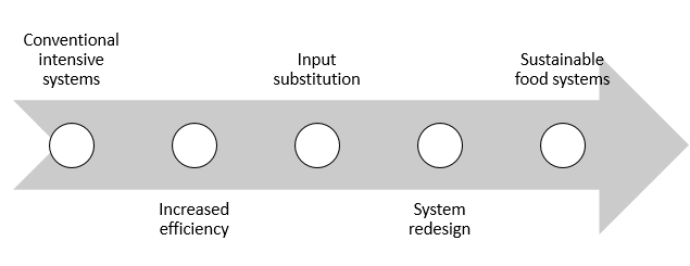 Figure 4: Efficiency, substitution and redesign framework